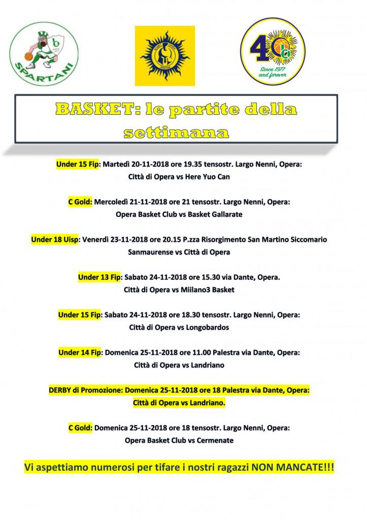 Volantino gare Basket 6-1