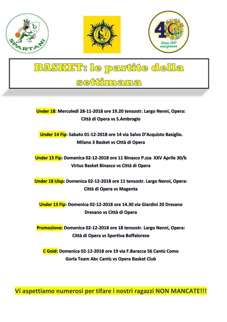 Volantino gare Basket 7-1