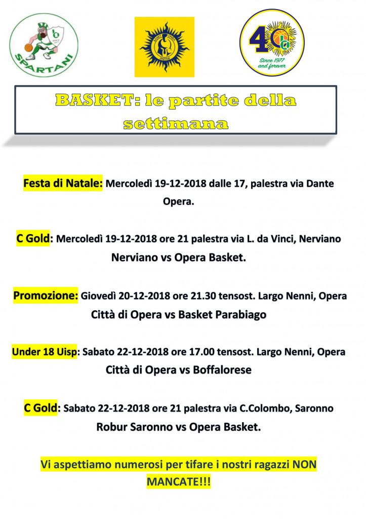 Volantino gare Basket 10-1