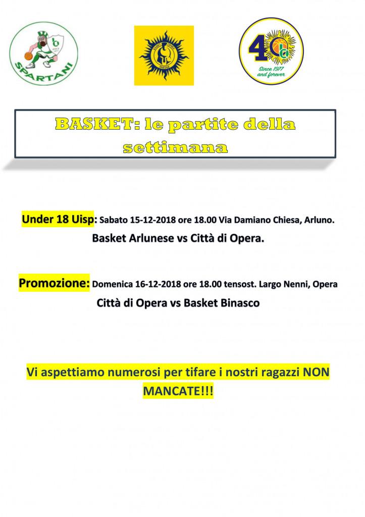 Volantino gare Basket 9-1