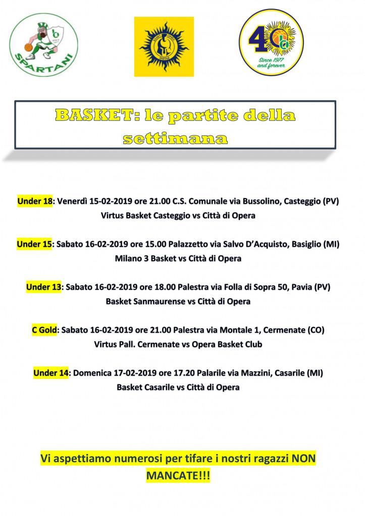 Volantino gare Basket 16-1