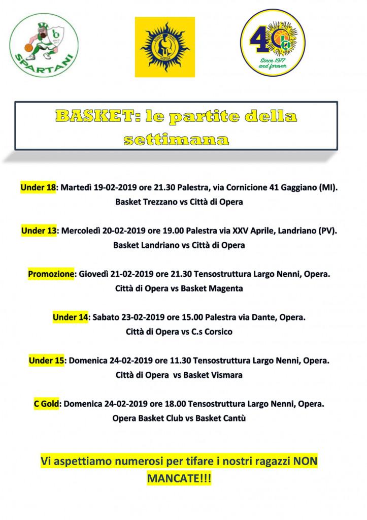 Volantino gare Basket 17-1