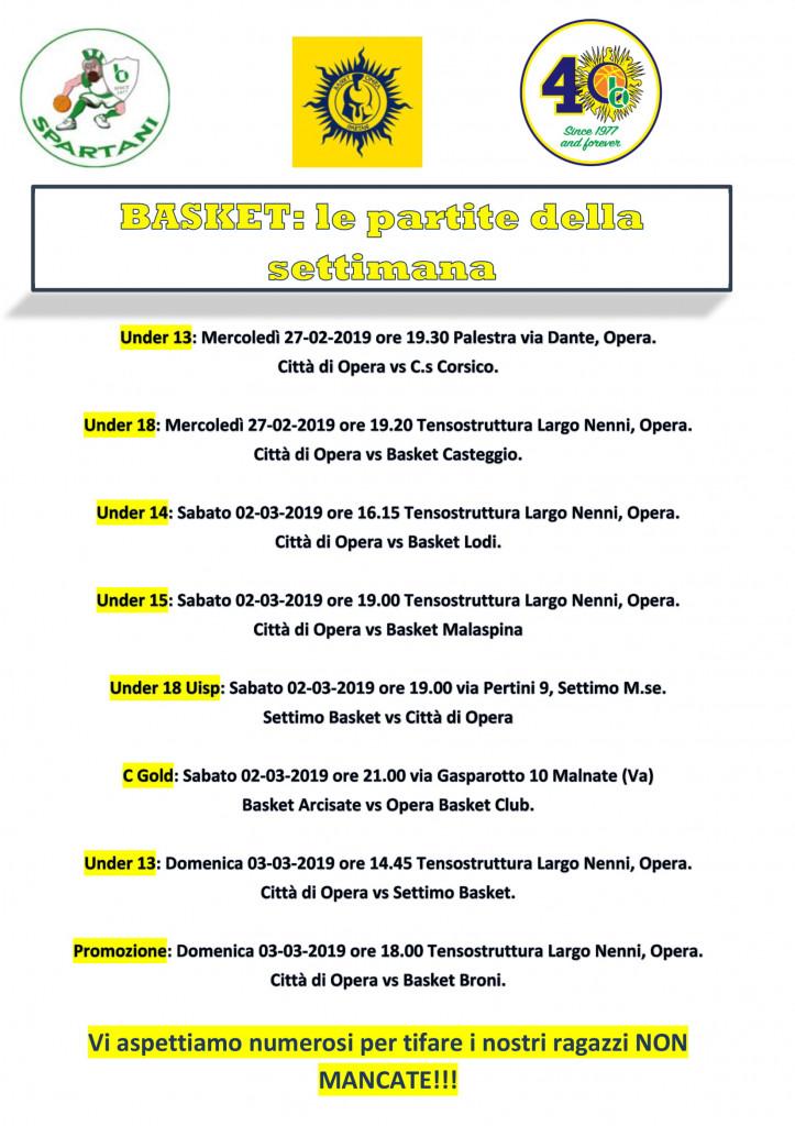 Volantino gare Basket 18-1
