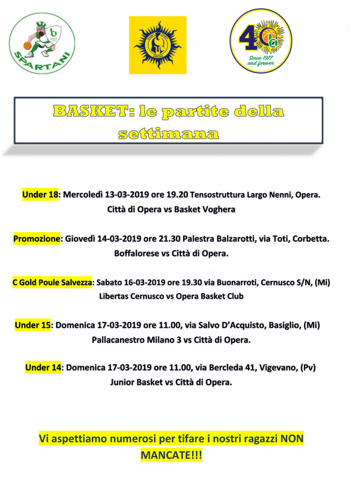 Volantino gare Basket 20-1