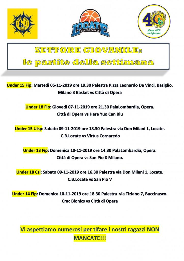 Volantino gare Basket 4-1